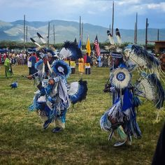 The Taos Pueblo #Powwow was very cool to see. They had 15 drum groups with singers from different tribes & regions and hundreds of dancers with stunning elaborate outfits. #beautiful