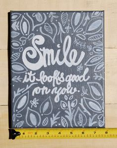 A personal favorite from my Etsy shop https://www.etsy.com/listing/188380632/acrylic-canvas-painting-smile-it-looks
