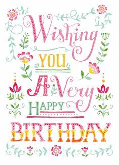 ⭐🌸Wishing you a very happy Birthday 🌸⭐