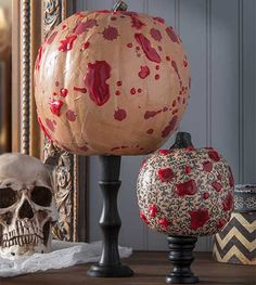 Decoupage - Bloody Halloween Pumpkins