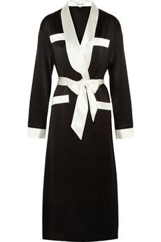 319d7b5b2f0c4 Olivia von Halle Lena silk-satin robe Designer Lingerie