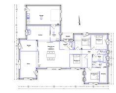 Plan Maison Plain Pied 4 Chambres 150m2