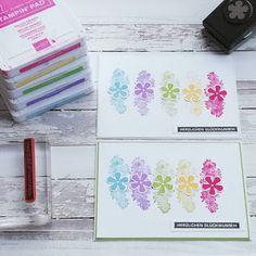 Farbenfroh im Winter Stampin Up Karten, Karten Diy, Stampin Up Cards, Diy Academy, Hand Stamped Cards, Small Flowers, Paper Cards, Stamping Up, Flower Cards