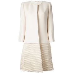 CHLOE collarless embroidered coat (€1.915) ❤ liked on Polyvore featuring outerwear, coats, jackets, coats & jackets, white coat, chloe coat, embroidered white coat, embroidered coat and long sleeve coat