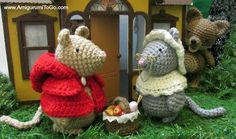 Amigurumi To Go: Little Red Riding Mouse Free Patterns, #crochet, free pattern, #haken, gratis patroon, muis, muizen, roodkapje, knuffel