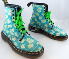SALE awesome rare vintage dr martens flower by NatureReWorked, $130.00