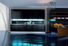 blue kitchen luxurious design
