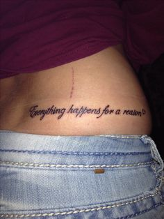 """""""Everything happens for a reason"""" tattoo"""