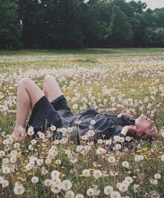 minus the fact that she looks like she's about to climax in a field of dandelions.