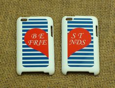 best friends 2pcs - iPhone 4 case , iphone 5 case , ipod touch case, samsung galaxy S3 case, galaxy note 2 case in black or white. $32.99, via Etsy.