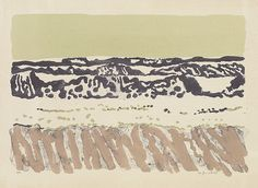 """""""FAIRFIELD PORTER The Ocean (I). Color lithograph, 1973. (17 3/4x26 1/2 inches). Printed by Resam Press, New York"""