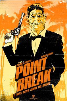 Point Break by Salvador Anguiano, via Behance
