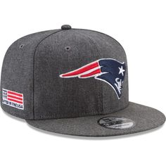 1aa48b56b5f New Era Men s New England Patriots Crafted in the USA Grey 9Fifty  Adjustable Hat