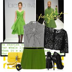 lorenzo riva, created by ways2wearit.polyvore.com-- green beans, green shoes, green fingers, green paint- who knows- but we love the color- nsideadivascloset.com- for accessories to match