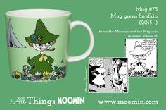 73 Moomin mug Snufkin Moomin Mugs, Tove Jansson, My Childhood, Finland, History, Tableware, Trays, Cups, Songs
