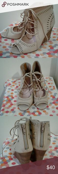 Open toe booties Brand new never worn. Restricted Shoes Ankle Boots & Booties