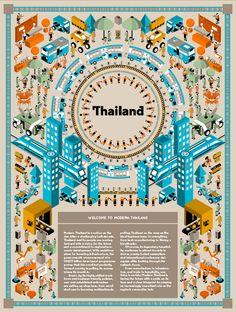MONOCLE : Modern Thailand by Jackkrit Anantakul, via Behance