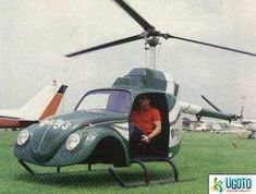 VW Helicopter Too Funny More of my VW obsession Weird Cars, Cool Cars, Vw T1 Camper, Combi Wv, Auto Volkswagen, Kdf Wagen, Vw Vintage, Engin, Vw Cars