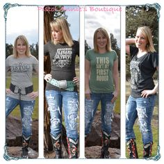 Pistol Annie's has a great selection of graphic tees in all the hot brands! #pistolpackinmamma #hotterthana$2pistol #thisaintmyfirstrodeo #yougonnapullthosepistols