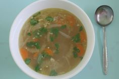 little woollie: Something Yum - chicken ginger soup