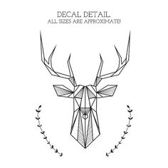 Bedroom Wall Decal Geometric Deer And Antlers Door NaturesRhapsody