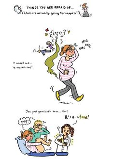 These illustrations let you know you're not alone in the funniest possible way. These moms came up with the idea after commiserating after having their first babies. So they know what they're talking (or joking) about! Halloween Pregnancy Announcement, Pregnancy Jokes, Happy Pregnancy, Pregnancy Tips, Pregnancy Running, Pregnancy Facts, Women Pregnancy, Pregnancy Problems, Pregnancy Belly