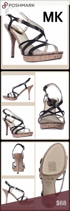 💠30% BUNDLE SALE 💠 STRAPPIE CORK PLATFORM SANDAL 🆕Without Tag $175 Retail +Tax  Sorry, size 10 have been SOLD!  -Natural Cork Platform Dress Sandals -Patent Leather Straps -Adjustable ankle strap -Peep-Toe -Heel: 4.75 inches  🛍 2+ BUNDLE=SAVE  ‼️NO TRADES--NO HOLDS--NO MODELING  💯 Brand Items Authentic   ✈️ Ship Same Day--Purchase By 2PM PST  🖲 USE BLUE OFFER BUTTON TO NEGOTIATE   ✔️ Ask Questions Not Answered In Description--Want You Yo Be Happy MICHAEL Michael Kors Shoes Heels