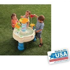 WaterPark PlaySet Outdoor Fun Activity Center Spiralin'Seas Ball Drop Water Tabl #LittleTikes