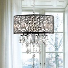 Shop for Indoor 4-light Chrome/ Crystal/ Metal Bubble Shade Chandelier. Get free shipping at Overstock.com - Your Online Home Decor Outlet Store! Get 5% in rewards with Club O! - 5152199