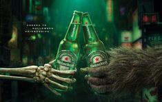 Heineken Halloween 2018 campaign for Japan Halloween Party Flyer, Halloween Inspo, Halloween 2018, Halloween Designs, Creative Advertising, Advertising Signs, Inovative Ideas, Liquid Dreams, Ad Of The World