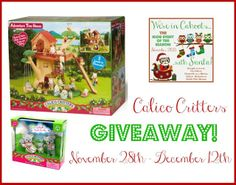 #WIN this Calico Critters Prize Pack in our #InCahoots with Santa #Giveaway event!