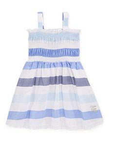 Calvin Klein Baby Girls' Striped Dress - Kids Girls Dresses - Macy's
