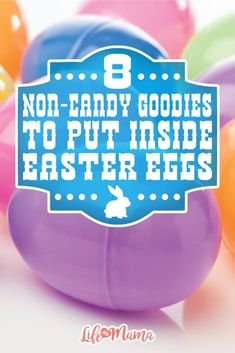 Instead of filling those Easter basket eggs with sugar and sweets this year, try one of these non-candy goodies for your kiddos.