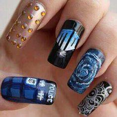 Dr. Who fingernails!