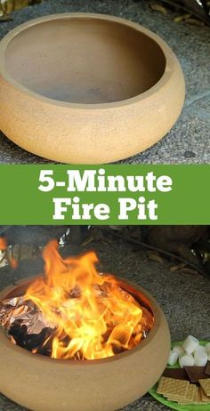 Make a Portable Fire Pit in Just 5 Minutes! f you're looking for fire pit ideas, this DIY outdoor fire pit is the easiest project imaginable. Your family is going to love this instant backyard addition. Fire pits add such a nice ambiance and create Diy Fire Pit, Fire Pit Backyard, Diy Propane Fire Pit, Small Fire Pit, Outdoor Fire, Outdoor Decor, Outdoor Living, Outdoor Stuff, Outdoor Furniture