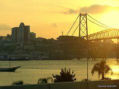 Dia lindo!!! Ponte Hercílio Luz.