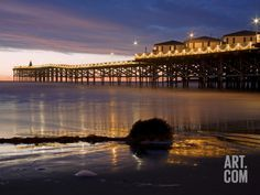 Crystal Pier on Pacific Beach at Christmas, San Diego, California