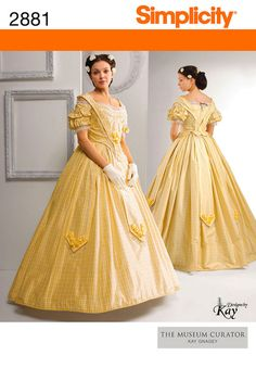 Civil War Era Costumes | Simplicity 2881 Women's Civil War Era Costume from the Museum Curator ...