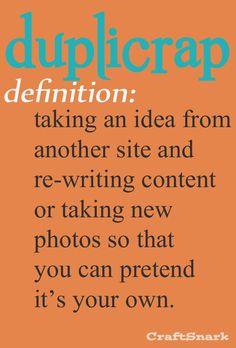 Craft Snark: Craft Definition: Duplicrap