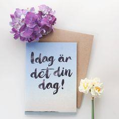 "Kort&Gott Onnittelukortti   Kirjekuori ""I Dag Är Det Din Dag"""