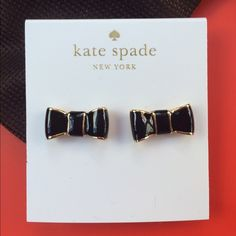 New Bow earrings Kate Spade Gorgeous and chic from Kate Spade. Black bow combined with gold. New! Comes in a small KS dustbag. Perfect as a gift! No trades ✈️ Fast shipping✈️ kate spade Jewelry Earrings