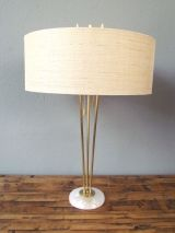 bamboo brass + marble lamp