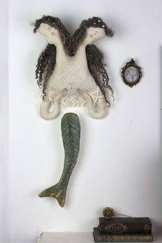 Art Doll of Mermaid - custom made doll by Pantovola