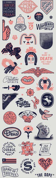 Dan Cassaro and Dan Christofferson // Young Jerks Design Logo, Design Poster, Badge Design, Typography Design, Icon Design, Layout Design, Design Art, Print Design, Branding Design