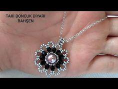 Bead Jewellery, Diy Jewelry, Beaded Jewelry, Jewelery, Necklace Tutorial, Earring Tutorial, Pendant Earrings, Beaded Earrings, Beaded Brooch