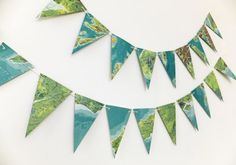 A fabulous map bunting up-cycled from vintage maps of Scotland, England and Wales. This eco-friendly garland would look wonderful in any room! It