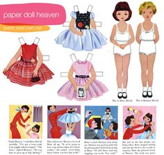 All the paper dolls you could ever want! There is a link on Lil magoolie to a site with ten years of FREE high resolution Betsy McCall paper dolls.