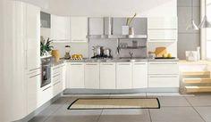 cocina moderna en blanco