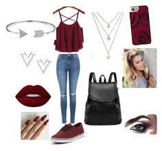 """""""Untitled #6"""" by tyroweowens on Polyvore featuring Topshop, Vans, Bling Jewelry, Nadri, Lime Crime and Casetify"""