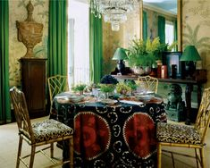 Suzani, leopard and green draperies Color Outside the Lines: Inspired